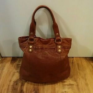 Lucky Brand Bags - EUC Lucky Brand Lamb Leather Large Tote Purse Bag